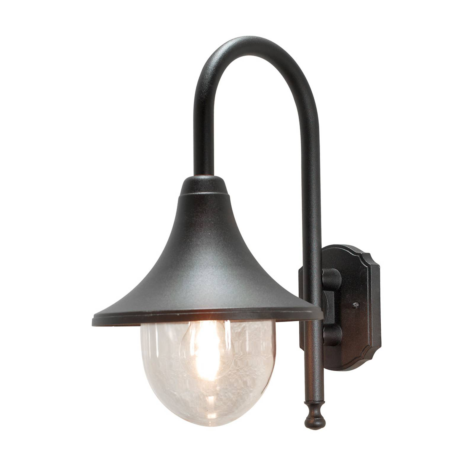 Buitenwandlamp Bari, zwart