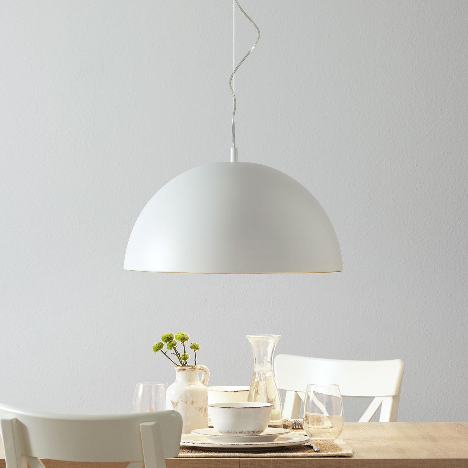 Lucande Phelan hanglamp 50cm wit-goud