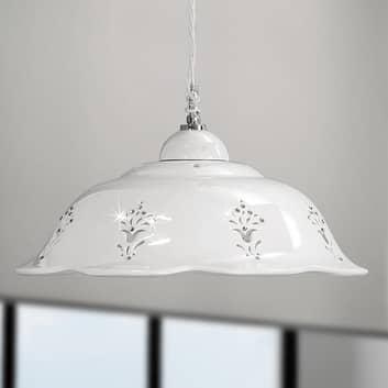 Lampa wisząca Guiliano, ceramiczny klosz