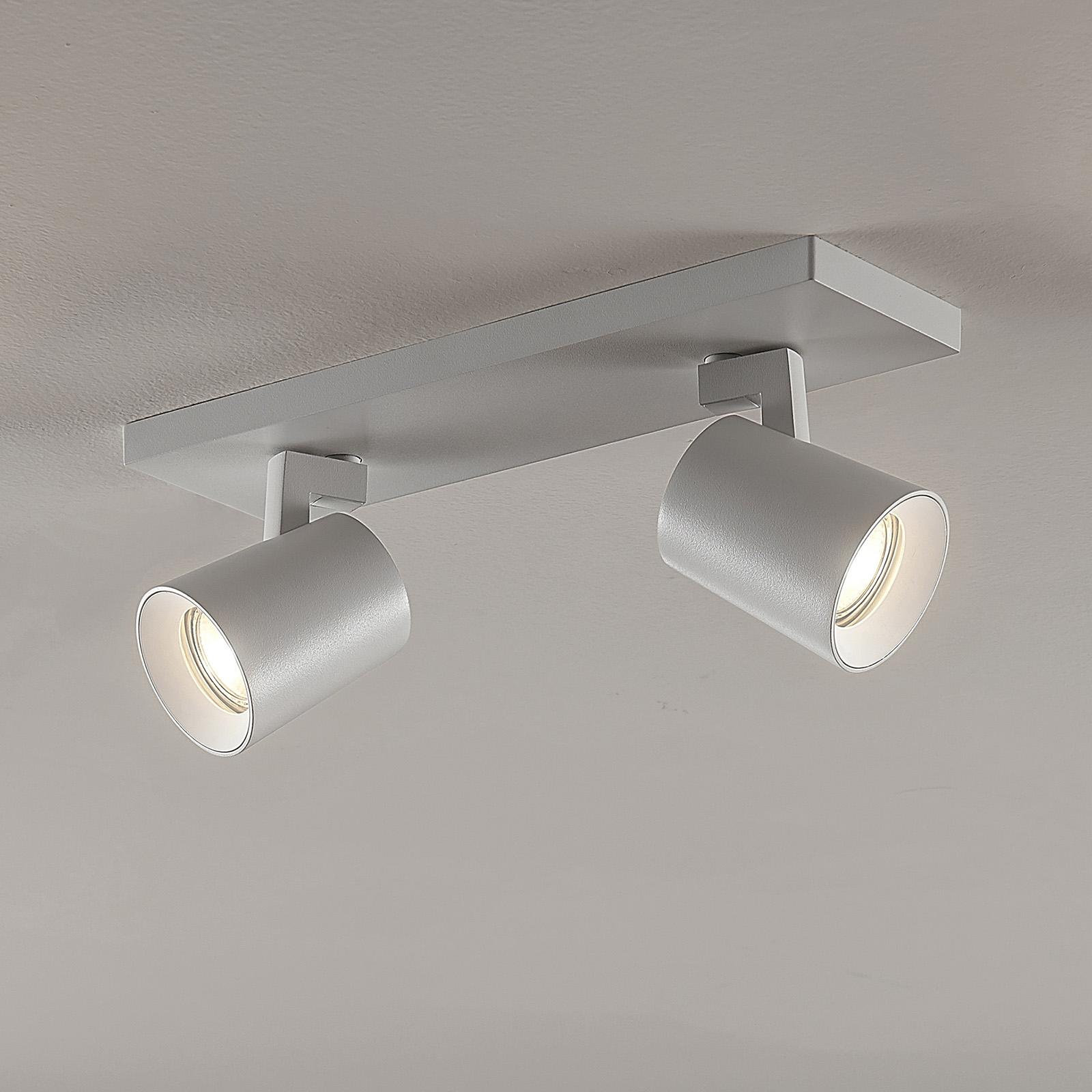 Takspot Iavo, justerbar, hvit, 2 lyskilder