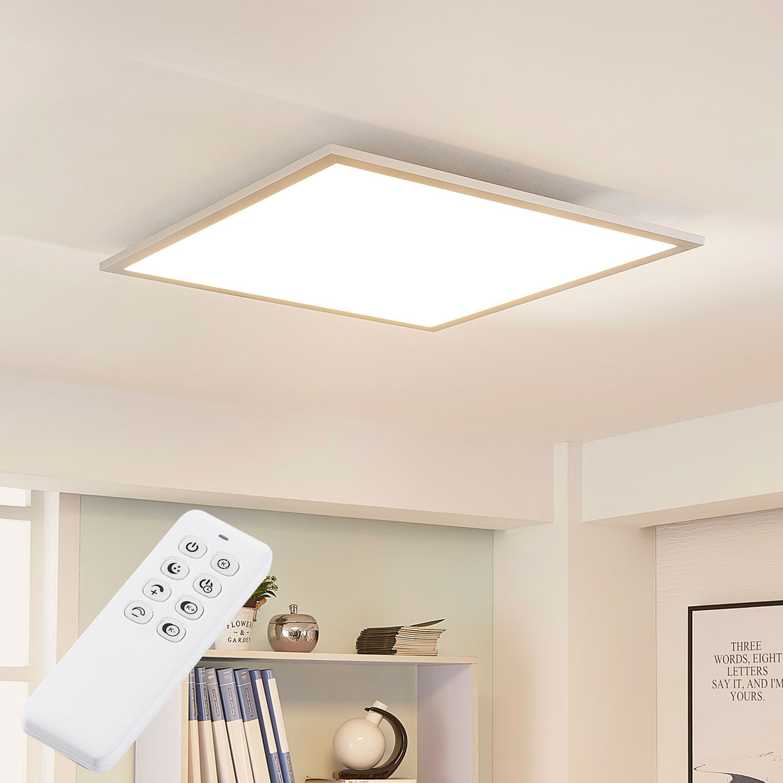 Arcchio Lysander LED-panel, CCT, 62 cm, sølv