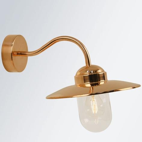 Luxemburg buitenwandlamp van koper