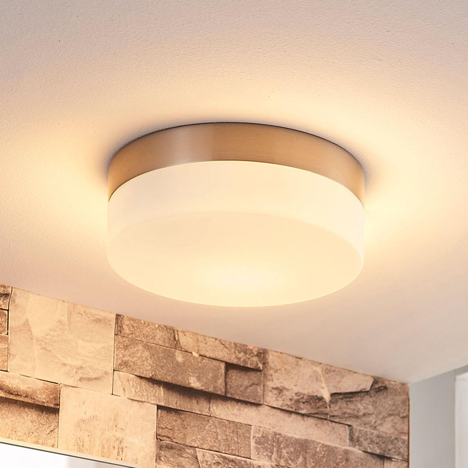 Badkamerplafondlamp Amilia met glazen kap