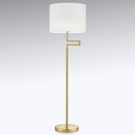 Zarovnatelná stojací lampa LED Lilian, mosaz matná