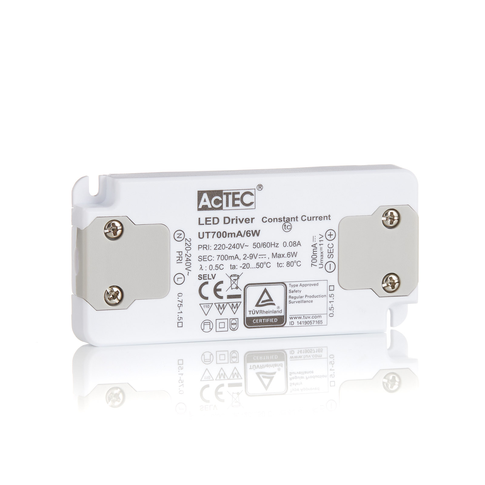 AcTEC Slim LED driver CC 700mA, 6W