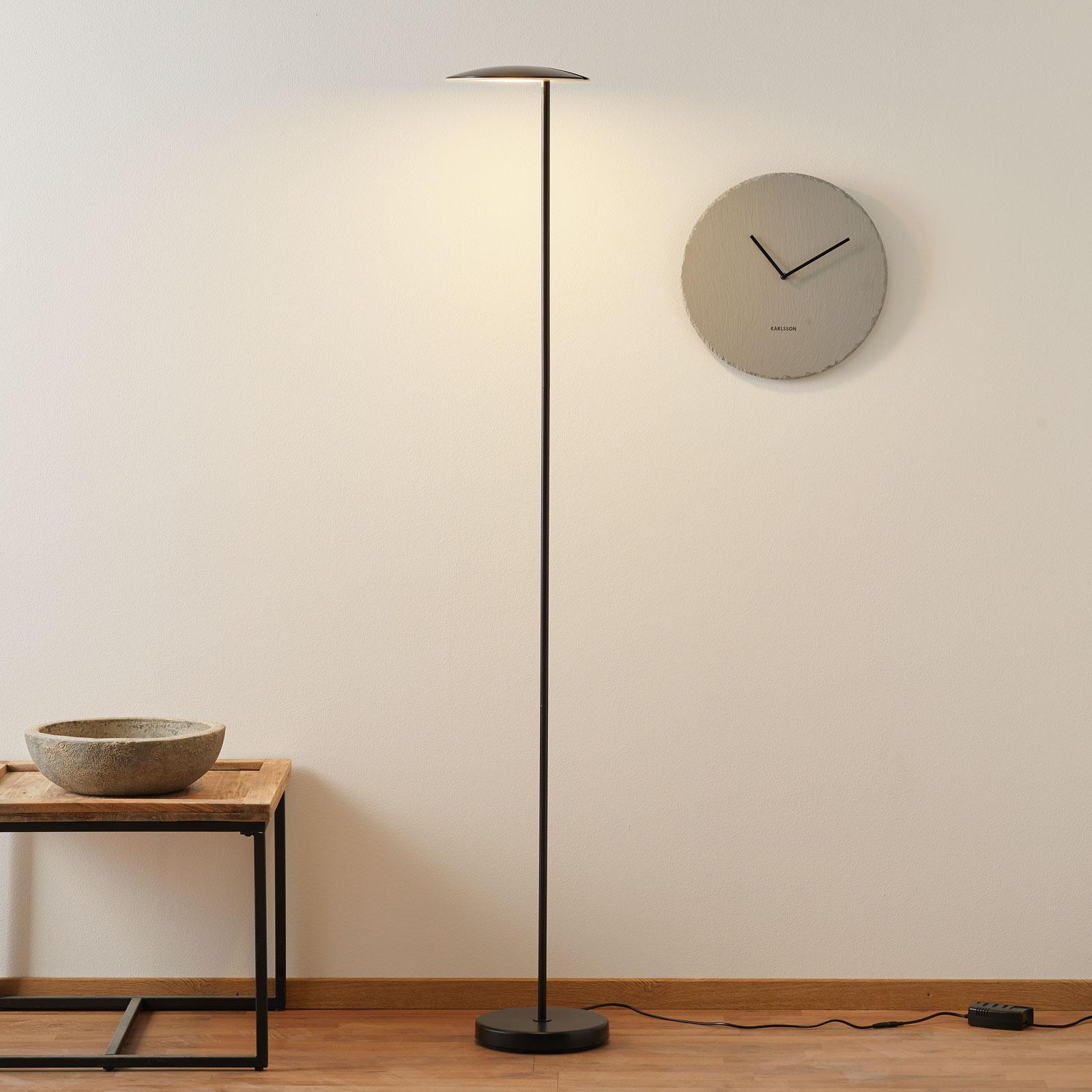 Lampa stojąca LED Ophelia, czarna, ze ściemniaczem