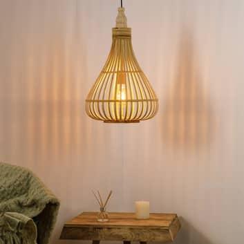 Amsfield hængelampe, bambus, pæreform