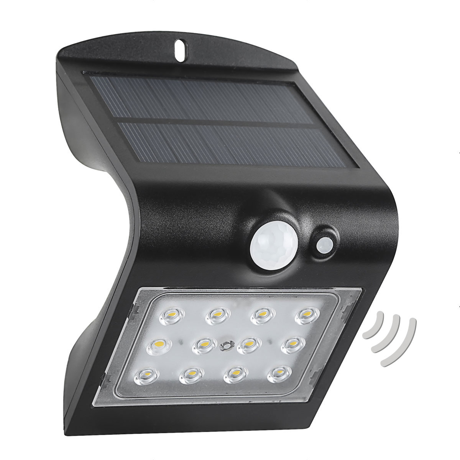 LED-Solar-Außenwandleuchte Wave S mit Sensor