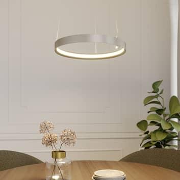 Lucande Naylia lámpara colgante LED níquel