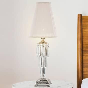 Bordlampe Sevilla med krystall, nikkel blank
