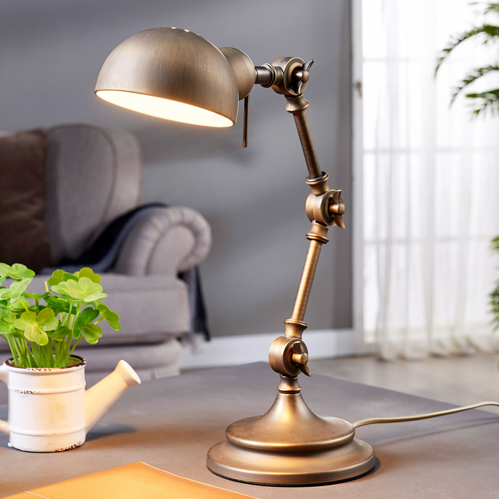 Ellisen - lampe de bureau couleur bronze