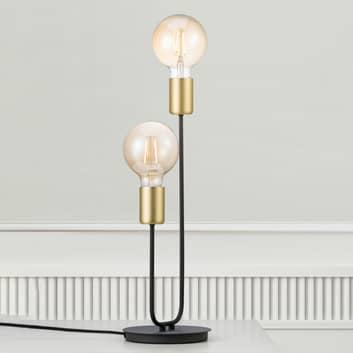 Lámpara de mesa Josefine con dos casquillos