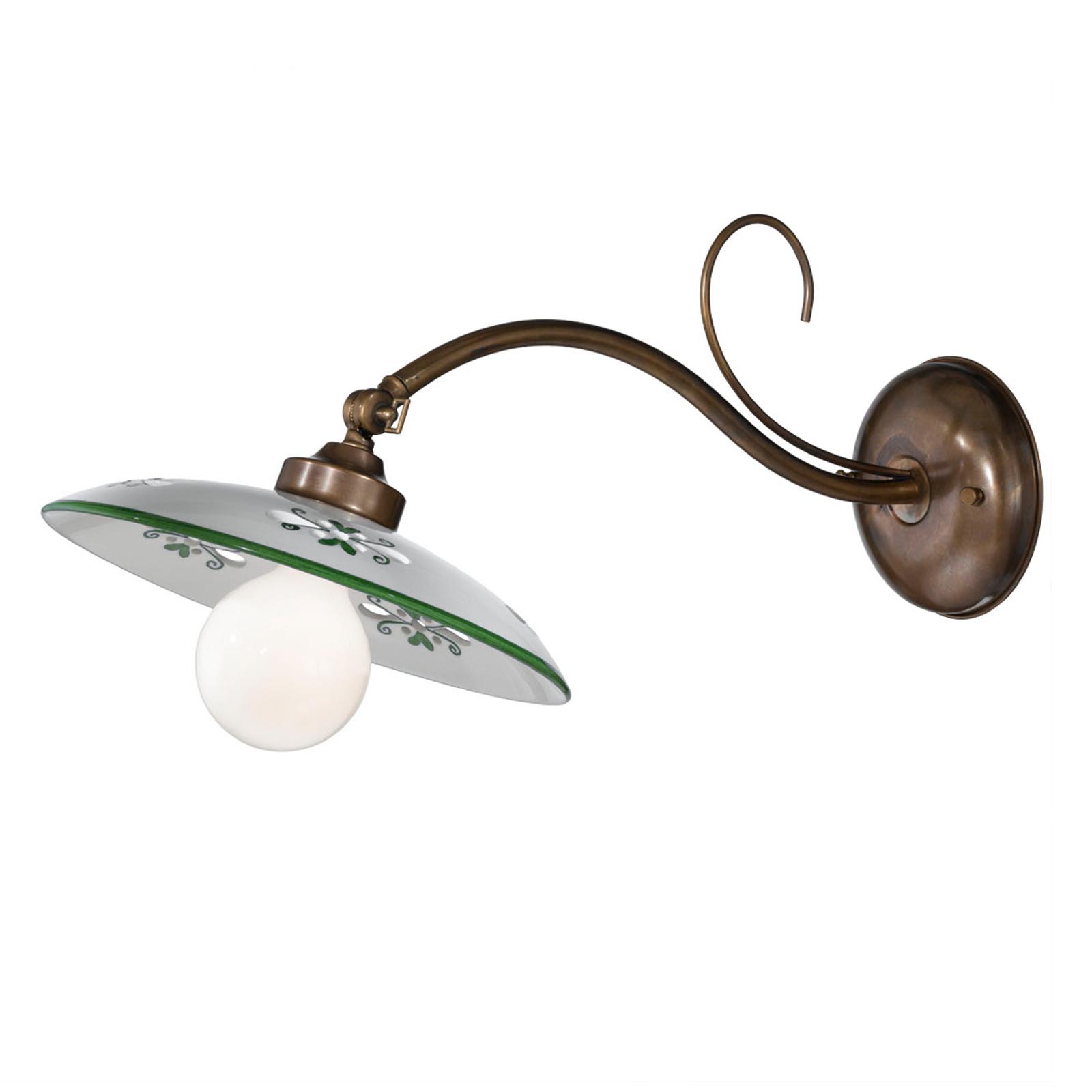 Wandlamp Bassano keramieken kap groen