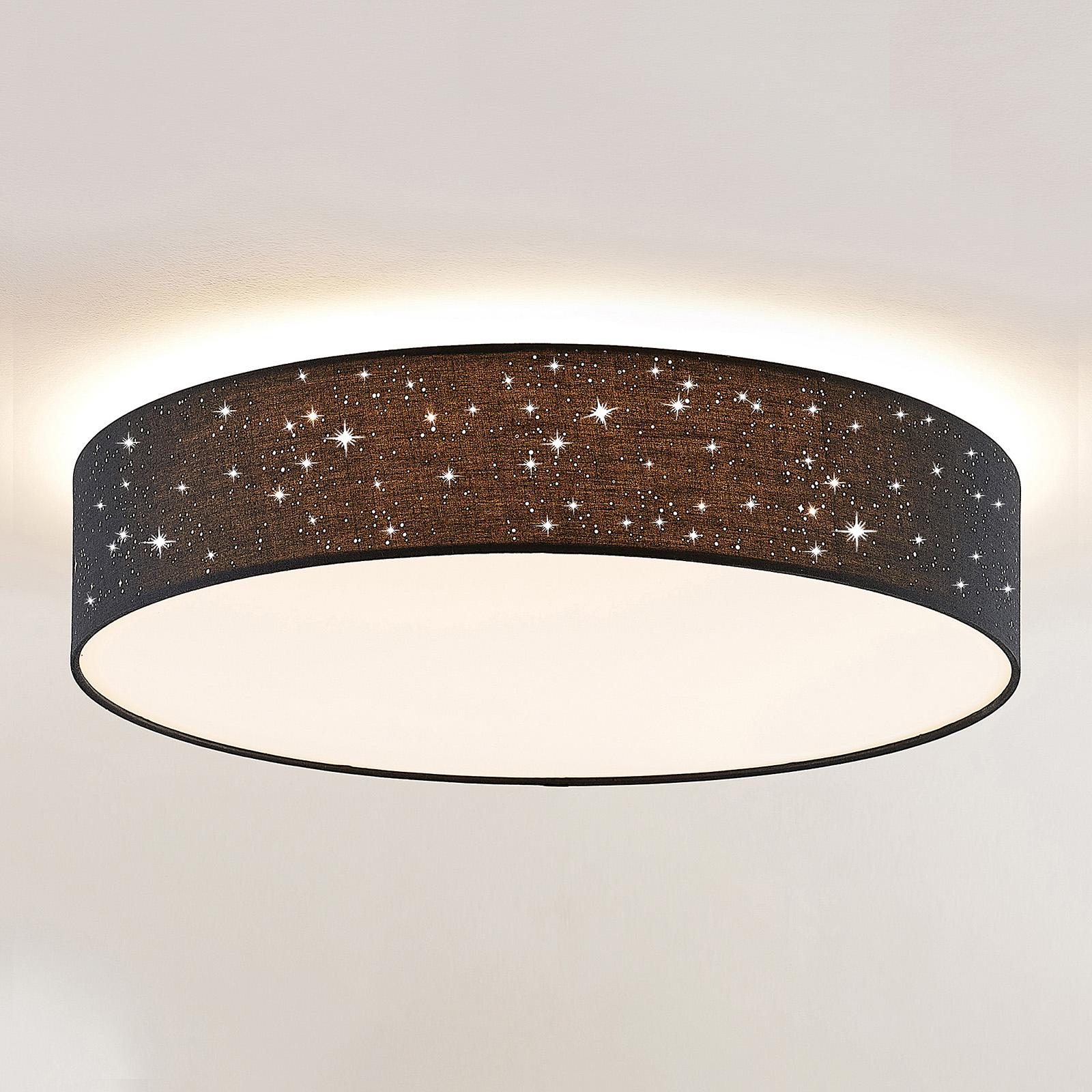 Lindby Ellamina lampa sufitowa LED 60 cm, czarna