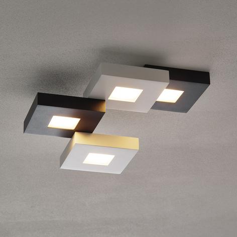 Plafonnier LED Cubus noir/blanc à 4 lampes