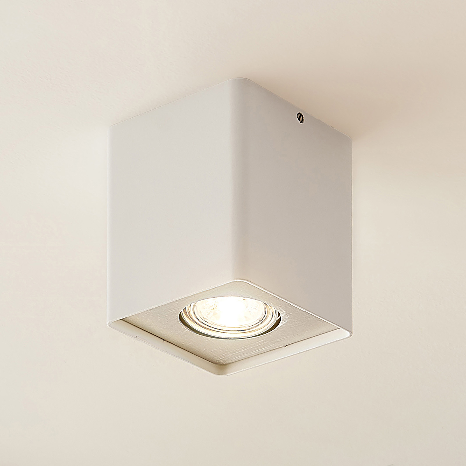 Lindby Laron Gu10-downlight, kantet, hvit