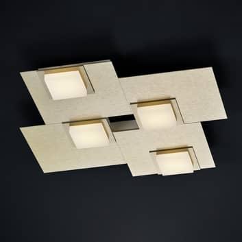 BANKAMP New Quadro LED-Deckenleuchte vierflammig
