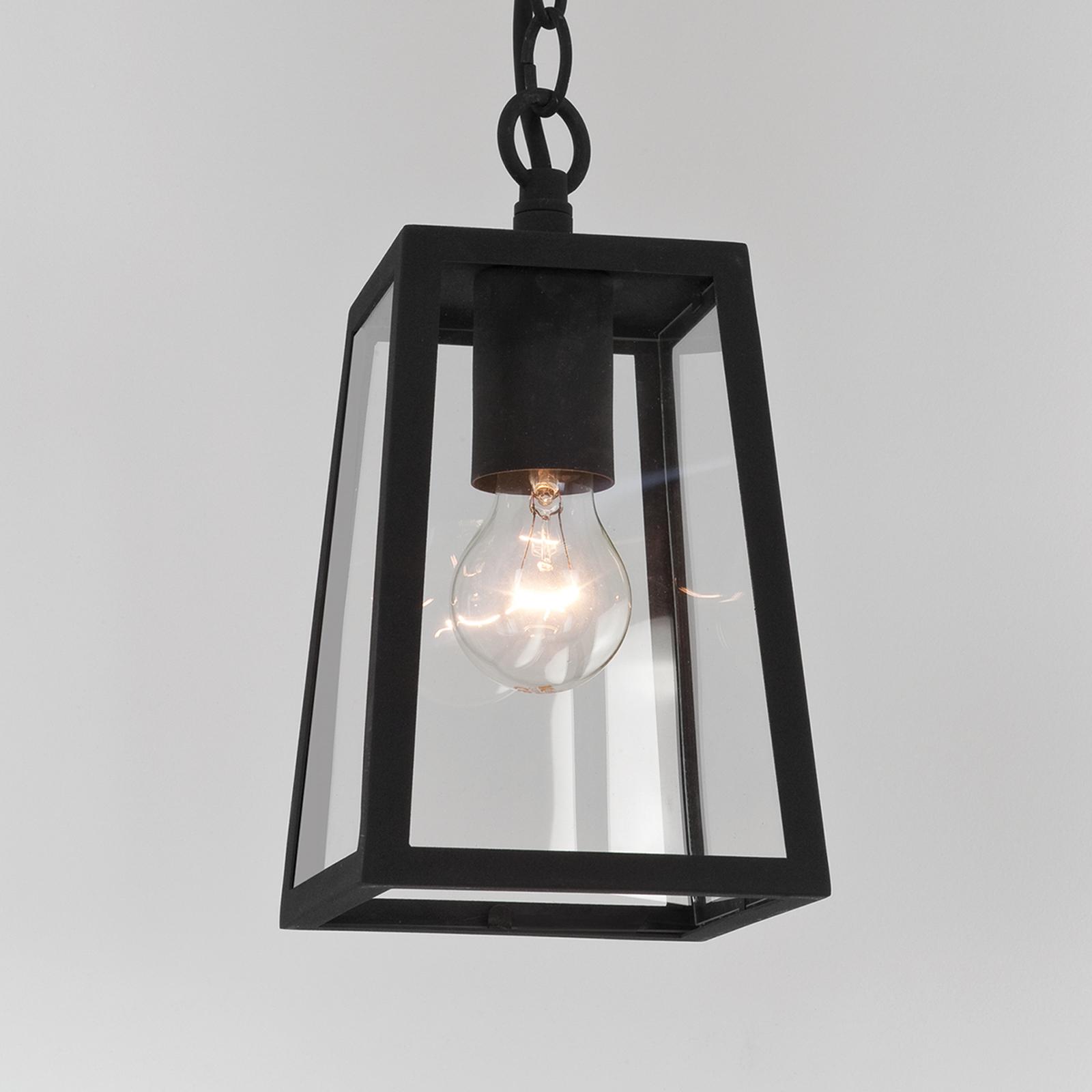Lampada sospesa Calvi per esterni, cornice nera