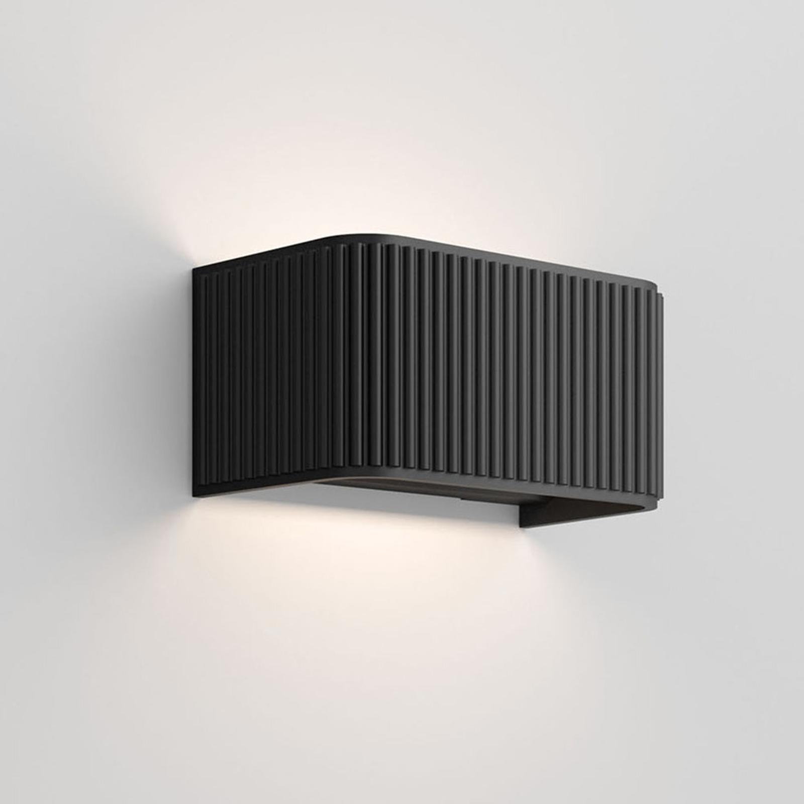 Rotaliana Dresscode W1 LED-seinävalo, musta, 2700K