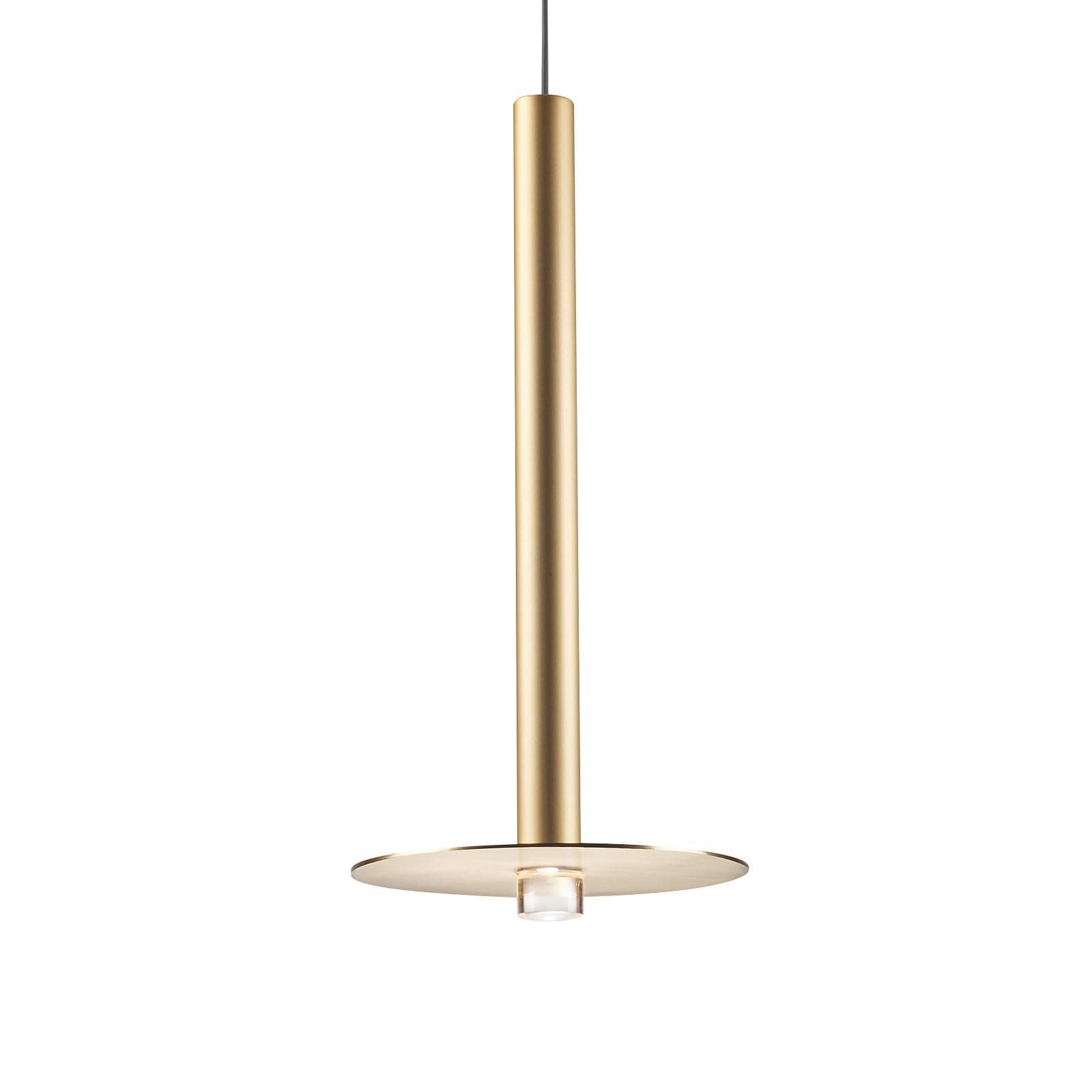 Grok Candle LED hanglamp 00-6017 goud satijn