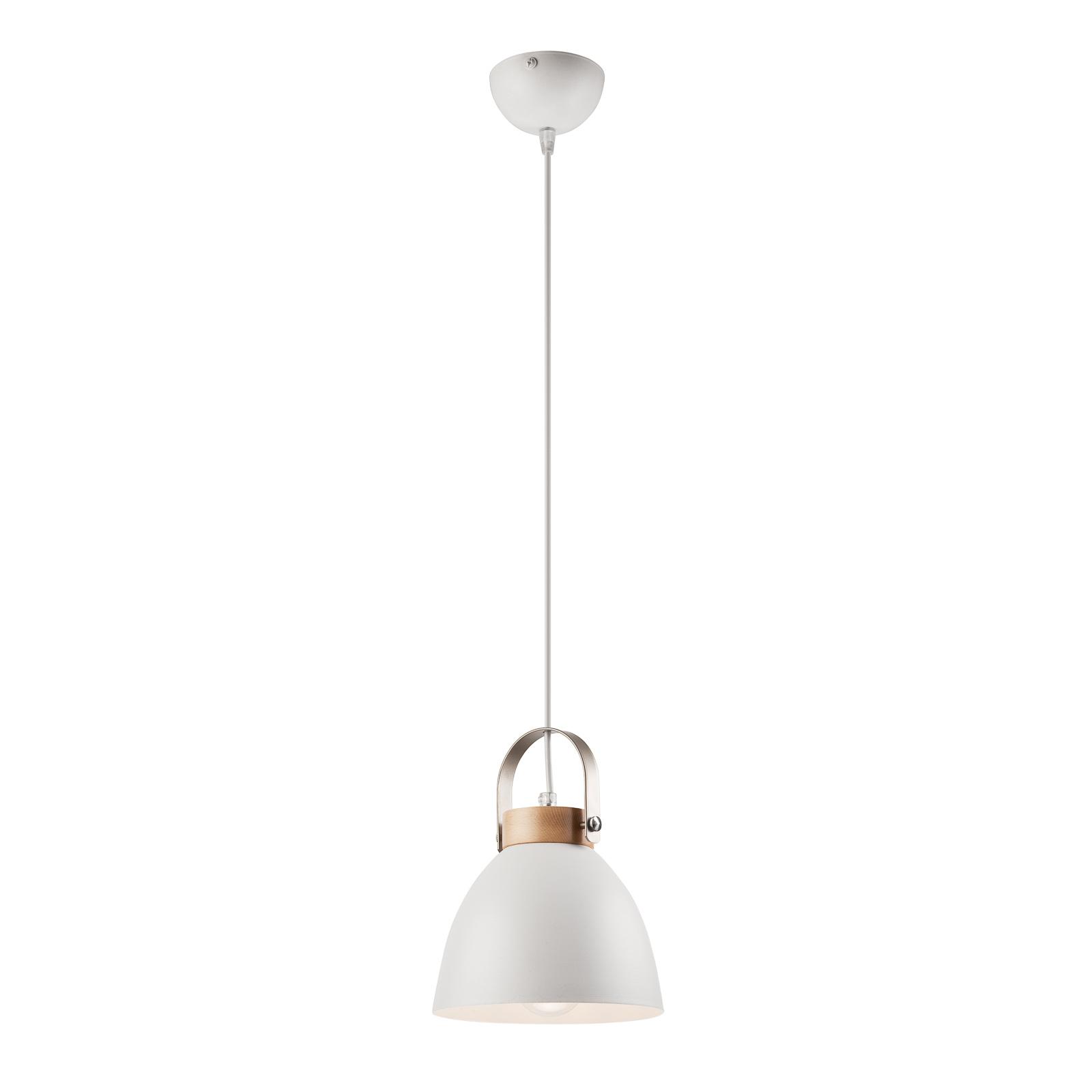 Lampa wisząca Bergen, 1-punktowa, biała