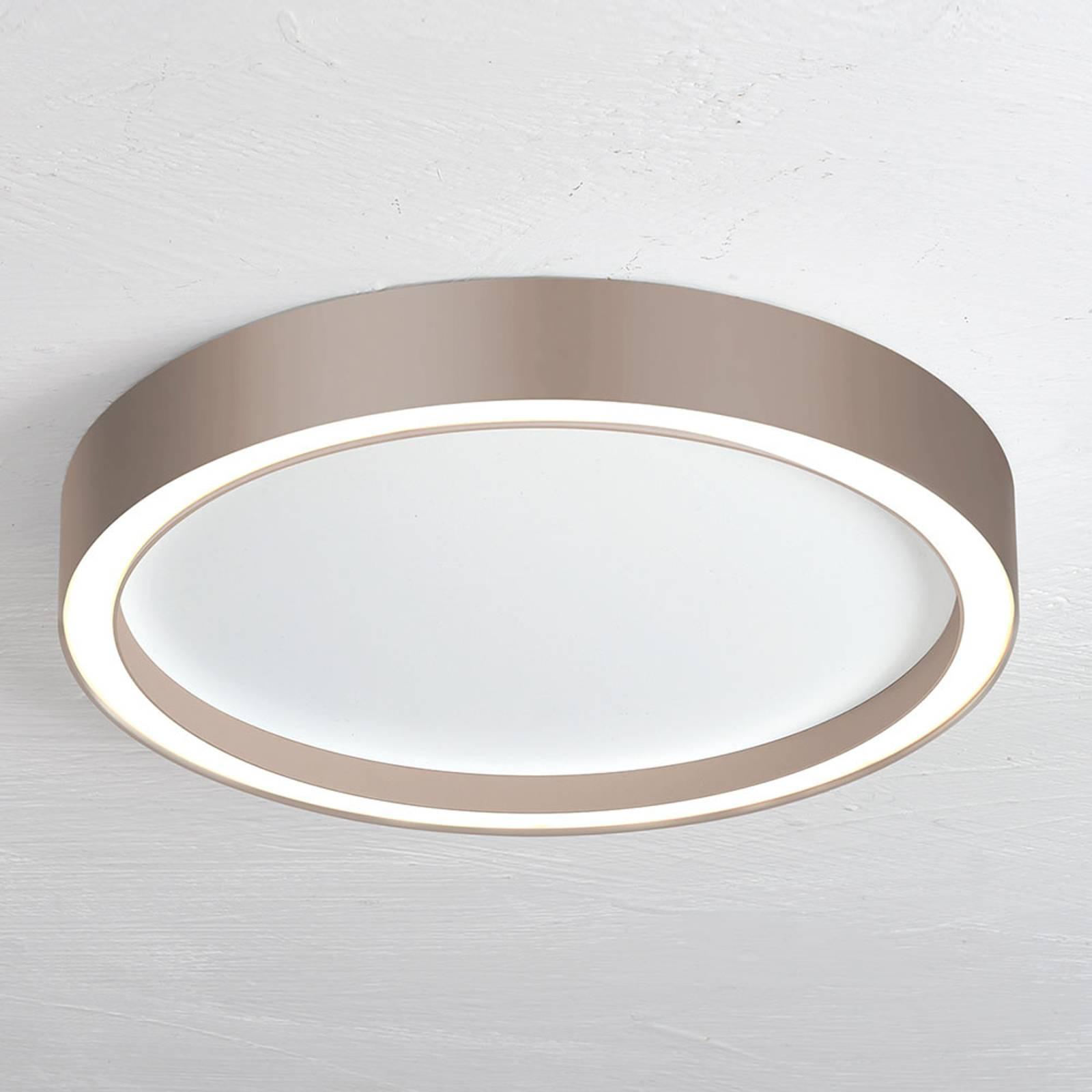 Bopp Aura LED plafondlamp Ø 55cm wit/taupe