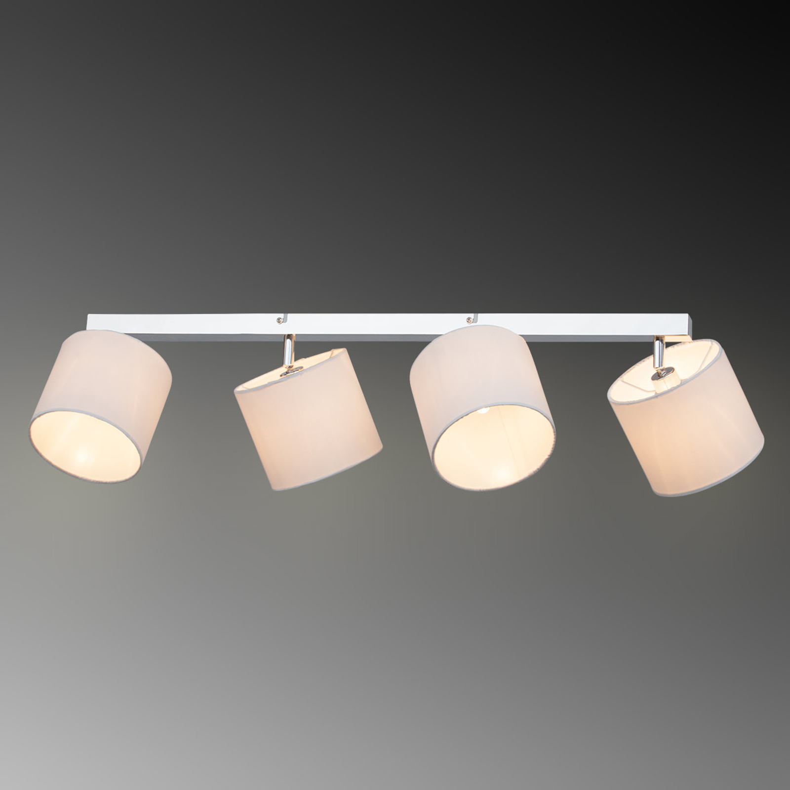 Sandra ceiling light with fabric lampshades 4-bulb_1508886_1