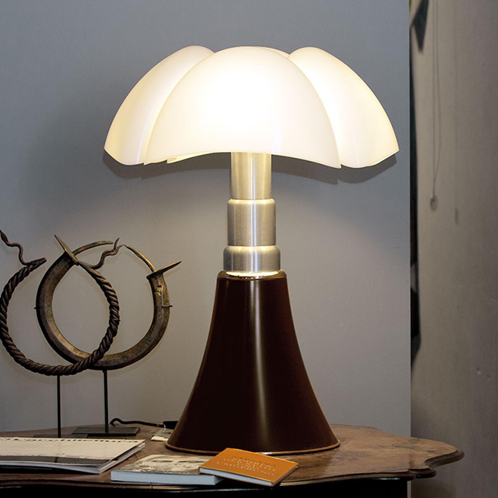 Lampe à poser à hauteur réglable PIPISTRELLO brun