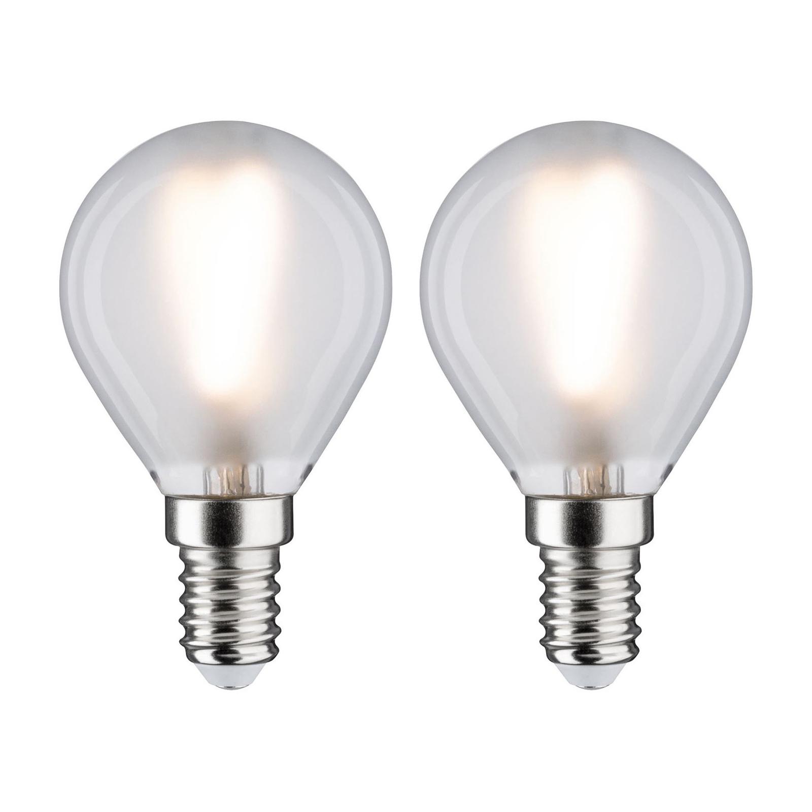 Paulmann LED-Tropfen E14 3W 2.700K matt 2er-Pack