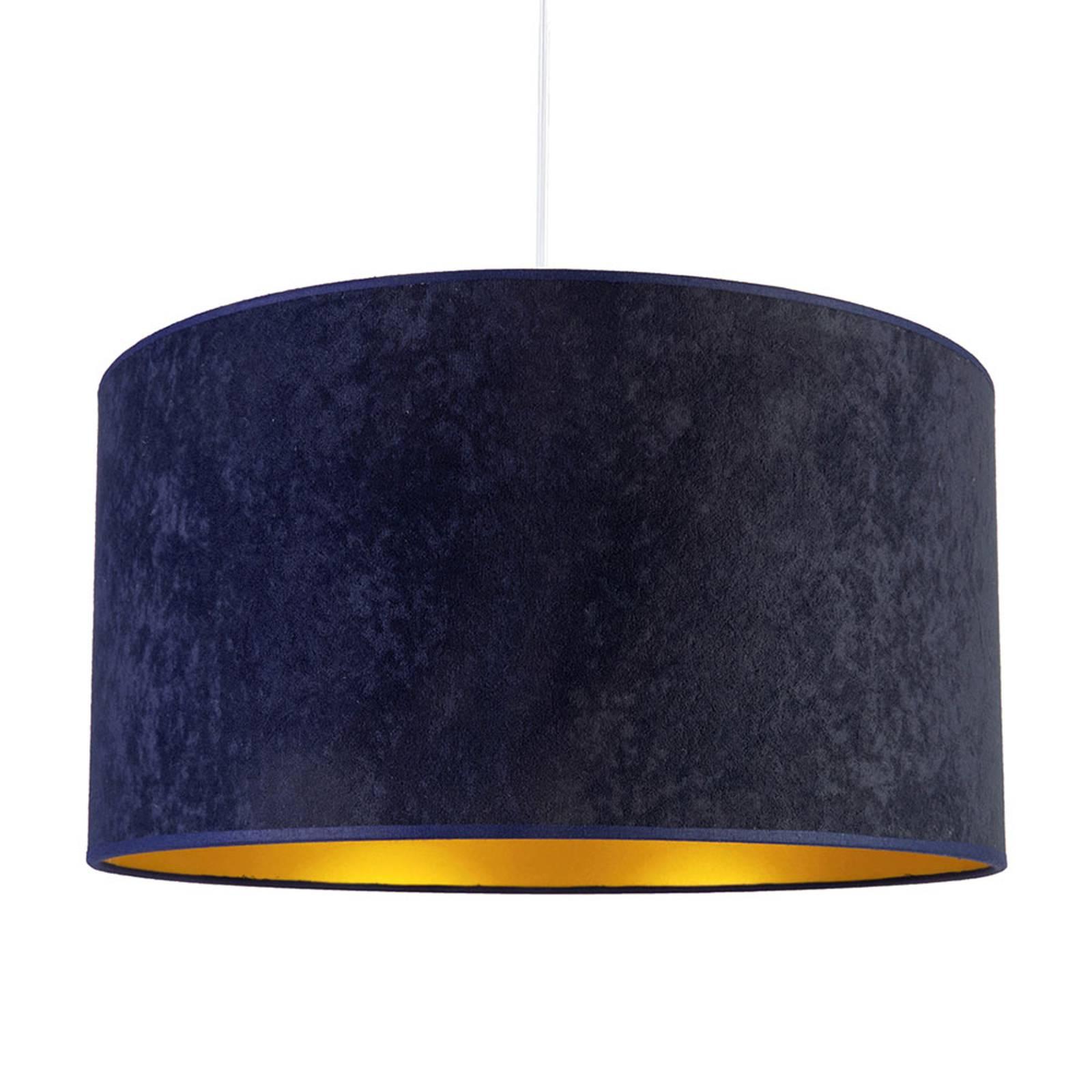 Hanglamp Roller, marineblauw/goud