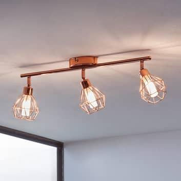 LED-Deckenleuchte Zapata, dreiflammig