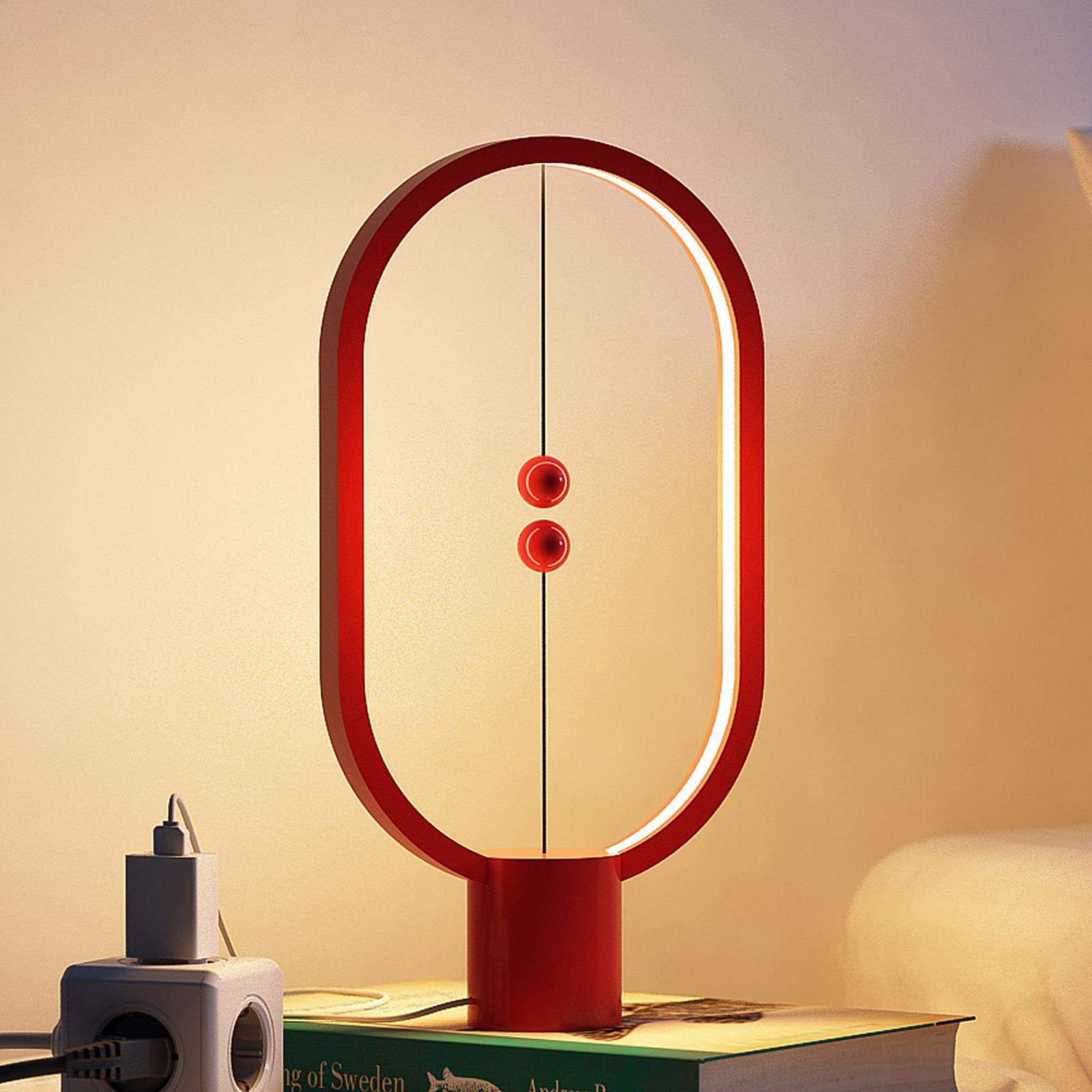 SEGULA Heng Balance LED-bordslampa röd