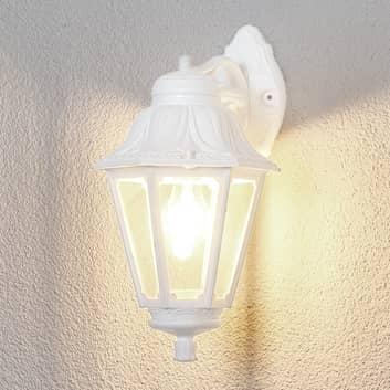 LED-Außenwandlampe Bisso Anna E27 weiß abwärts