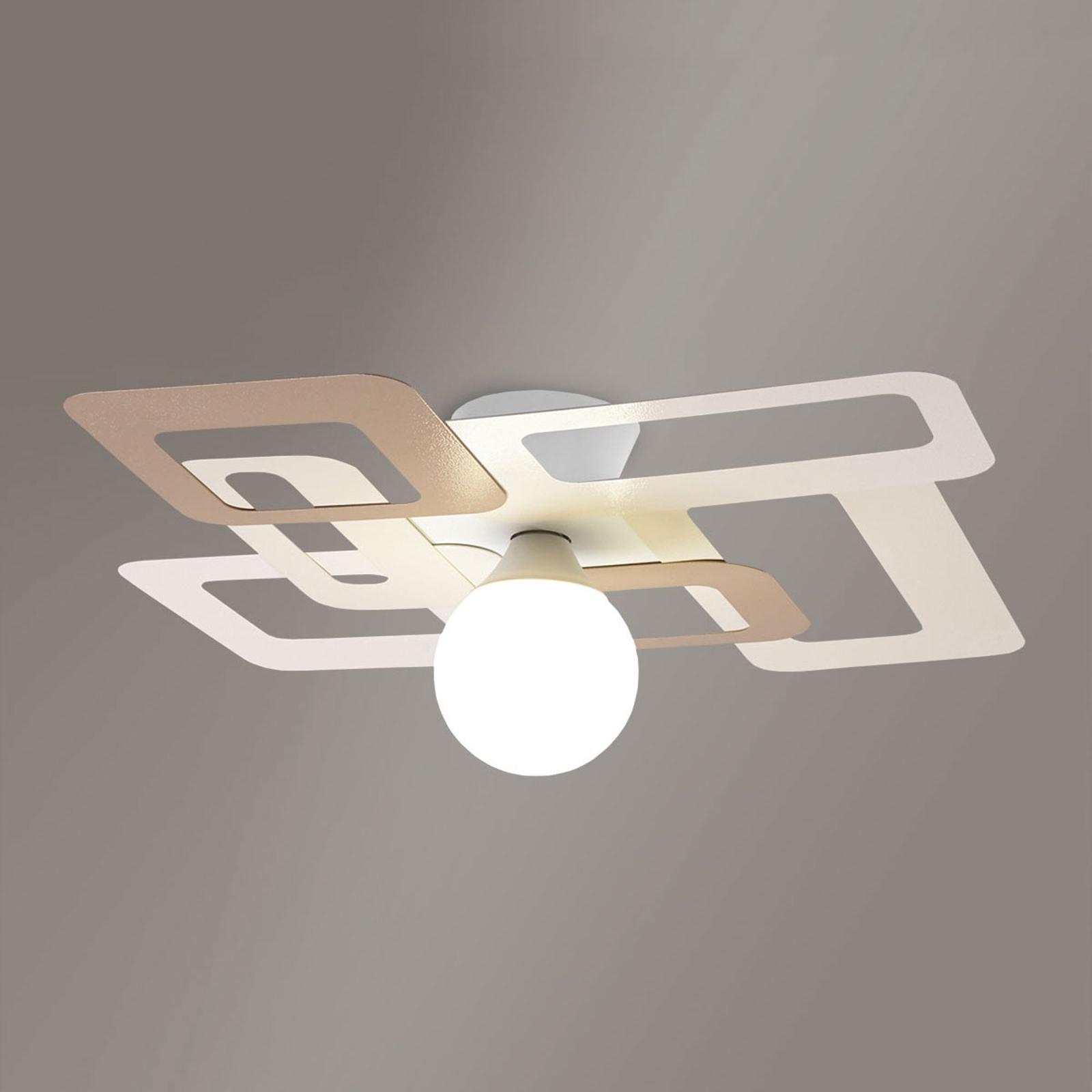 Bijzondere plafondlamp Kuadra