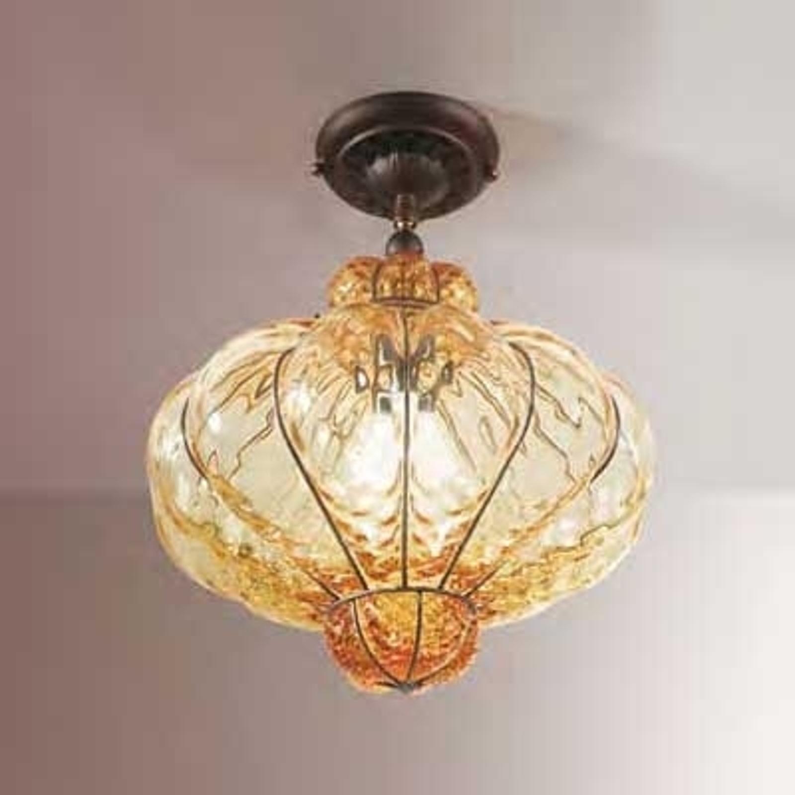 Muranoglass-taklampe SULTANO, 37 cm