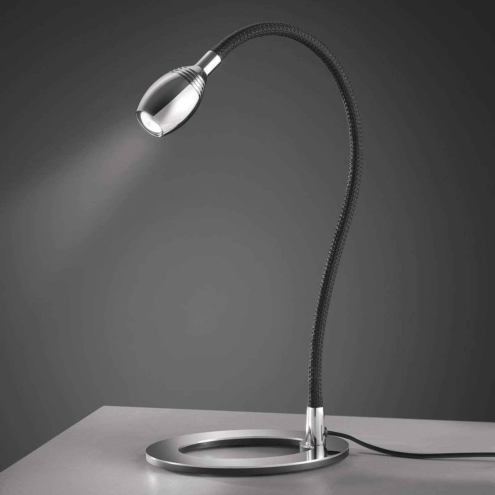 Baulmann 14.345 LED-Tischlampe Flexarm schwarz