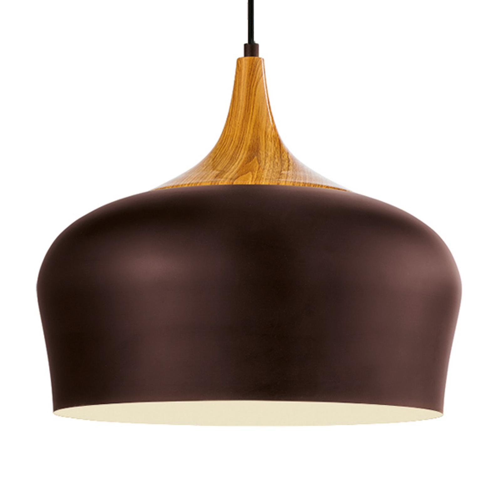 Obregon – lampa wisząca w kolorze brązowym