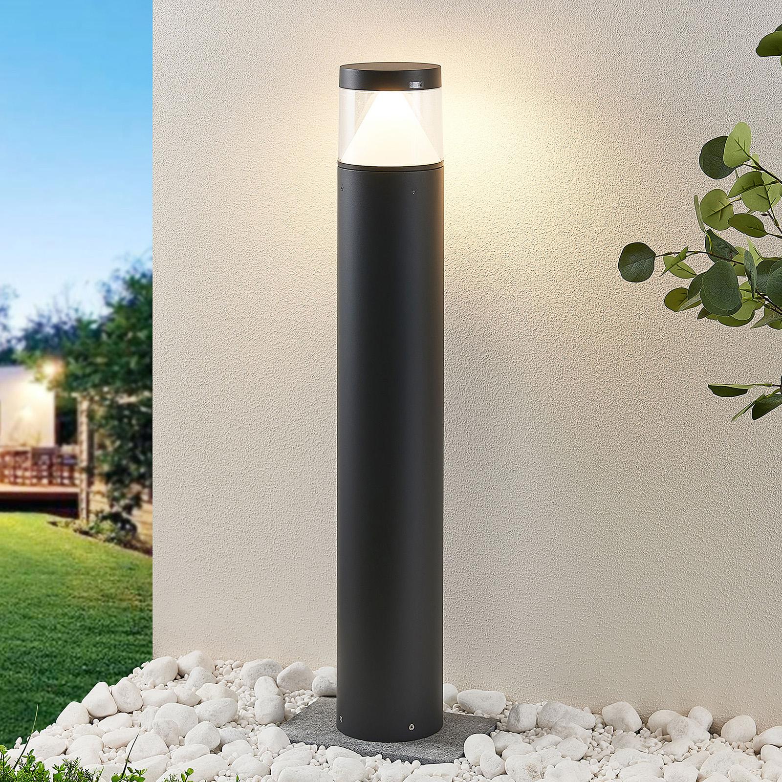 LED-pollarivalaisin Darja harmaa alumiini 100 cm