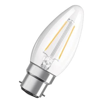 OSRAM bougie LED B22d Classic 827 4W transparente