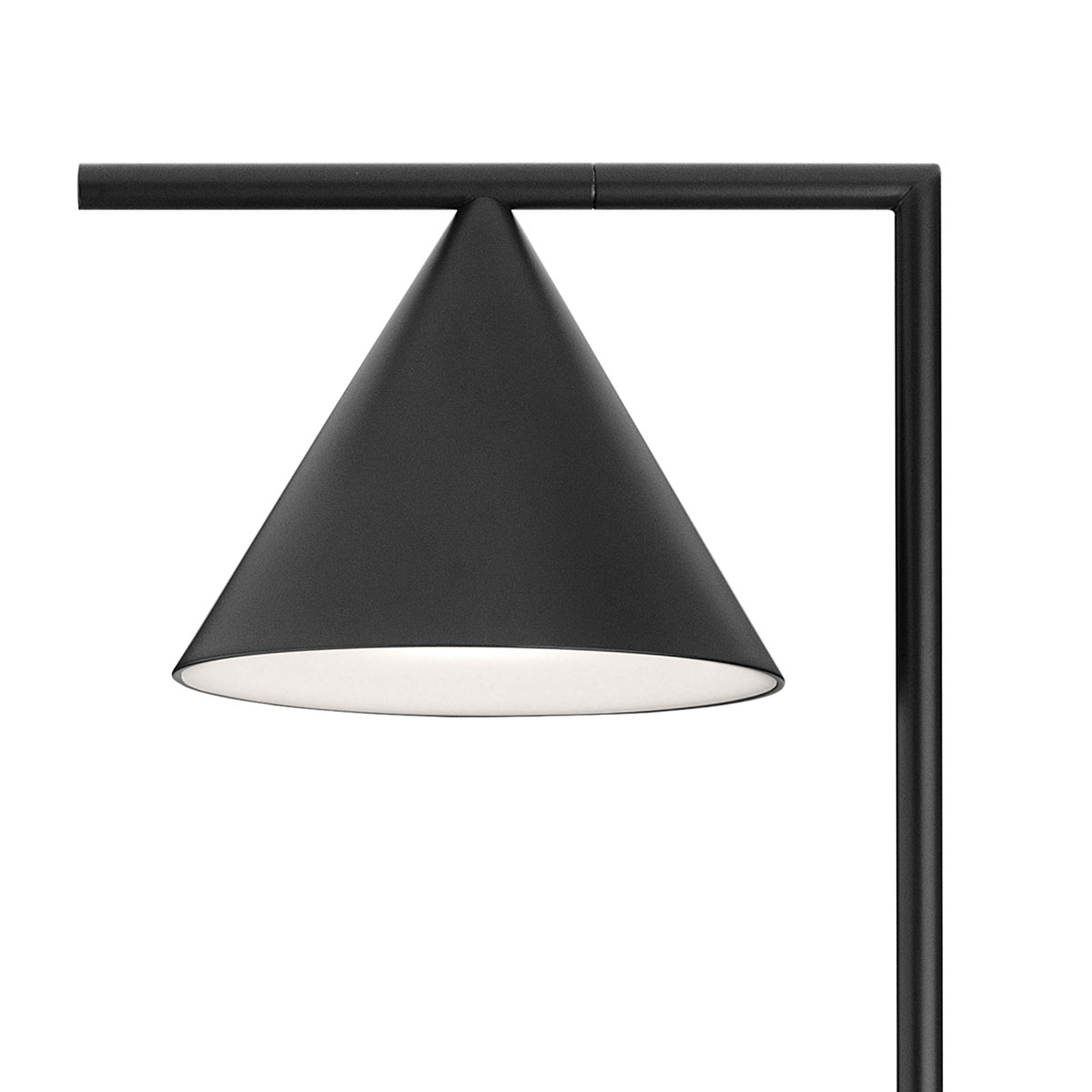 Zwarte designvloerlamp Captain Flint