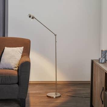 Raffinata lampada LED da terra Elegance a 3 snodi