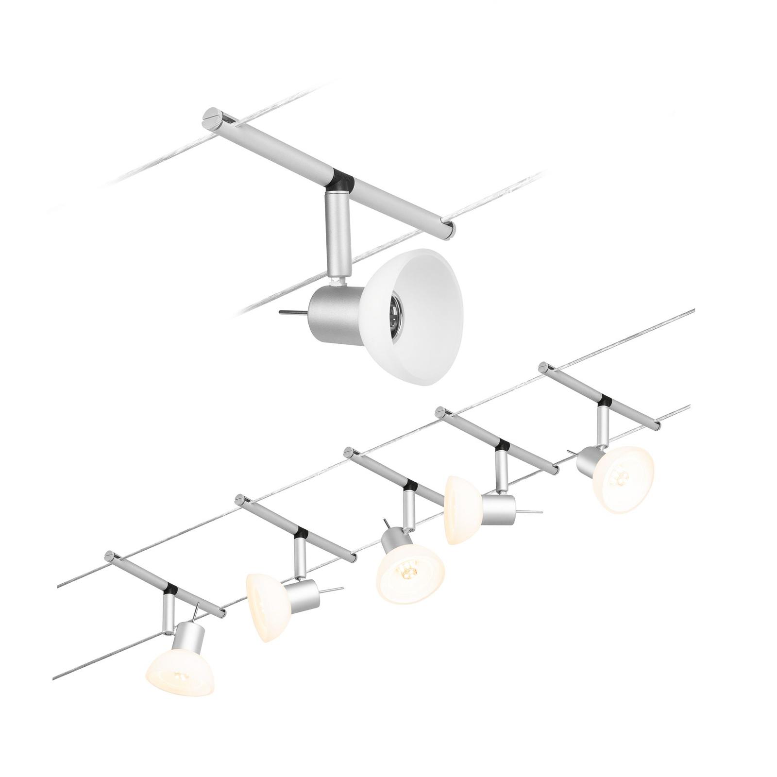 Paulmann Wire Sheela Seilsystem, 5-fl. 5 m chrom