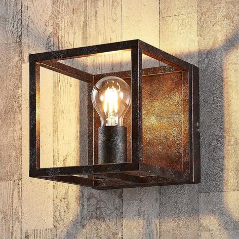 Roestkleurige wandlamp Emin van metaal