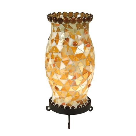 Tafellamp Enya crème-bruin