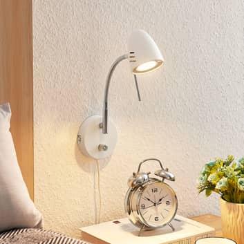 Lindby Heyko LED-vägglampa med stickpropp, dimbar