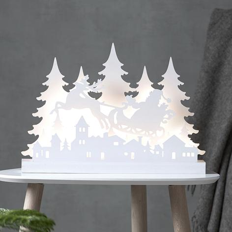 Lampe déco LED Grandi Père Noël, longueur 42cm