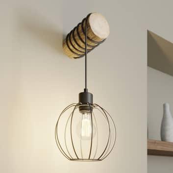Wandlamp Karou, bruin gebeitst