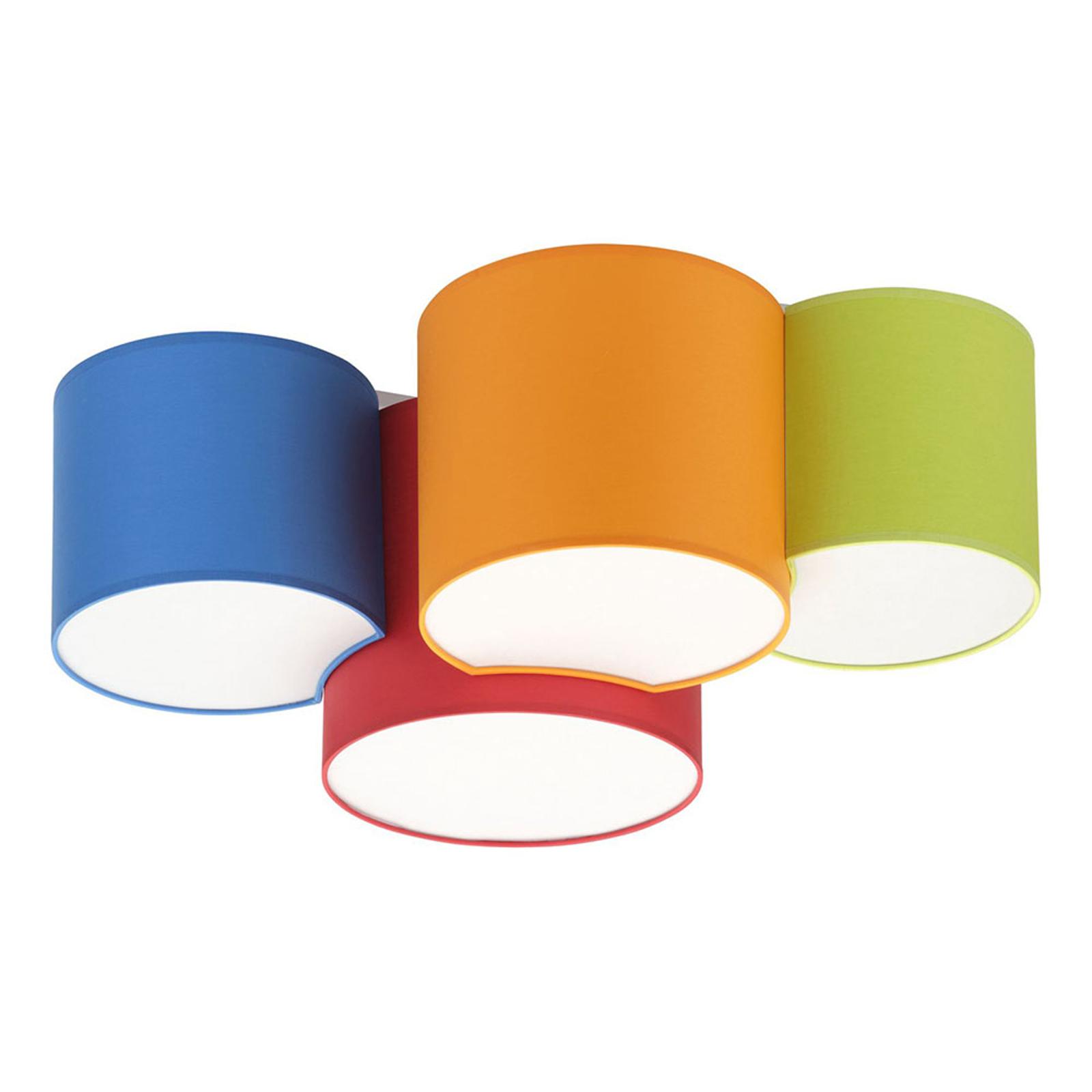 Taklampe Mona fire lyskilder, flerfarget
