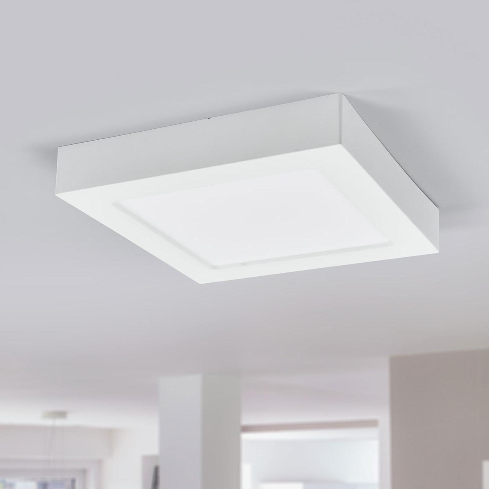 LED-taklampe Marlo, hvit, 4000K kantet 23,1cm