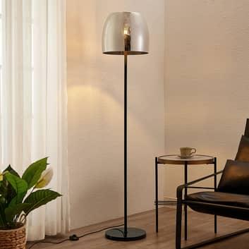 Lindby Yrell Stehlampe mit Rauchglasschirm